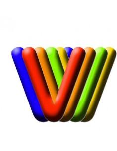 Globo PVC 35cm Letra V Surtido