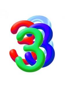 Globo PVC 35cm Numero 3 Surtido