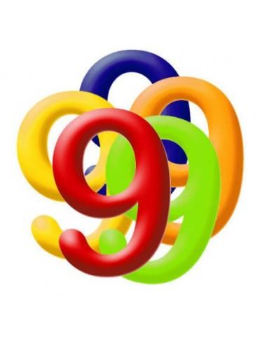 Globo PVC 35cm Numero 9 Surtido
