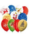 Globos para Navidad Surtidos Latex Redondo 30cm