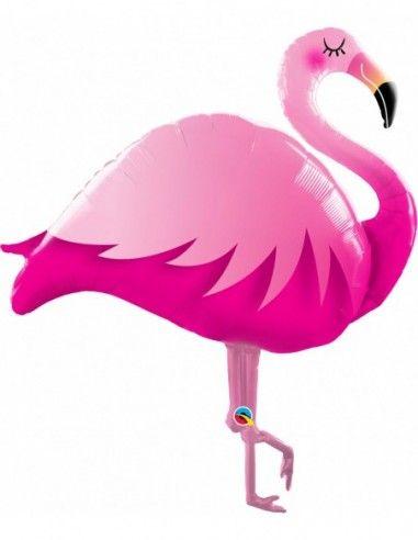Globo Flamingo Rosa Forma 116cm
