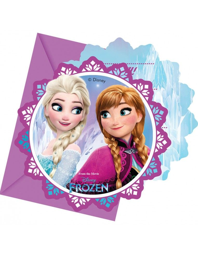 Invitaciones Frozen Northern Lights con Sobre