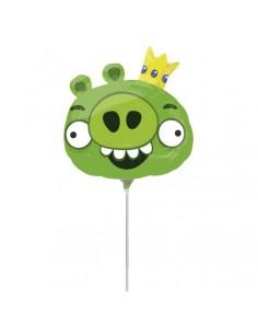 Globo Angry Birds King Pig - Mini Forma 23cm Foil Poliamida - A2569502