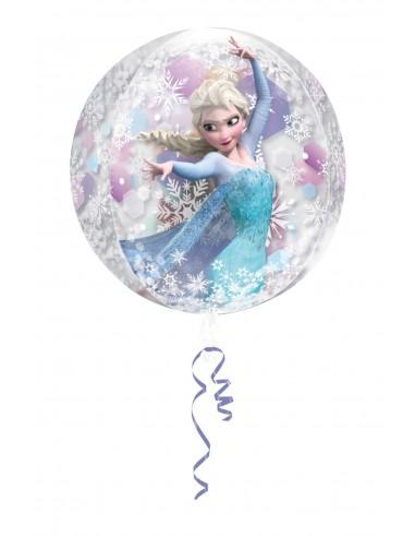Globo Frozen Transparente - Esferico 43cm ORBZ Foil Poliamida - A3018701