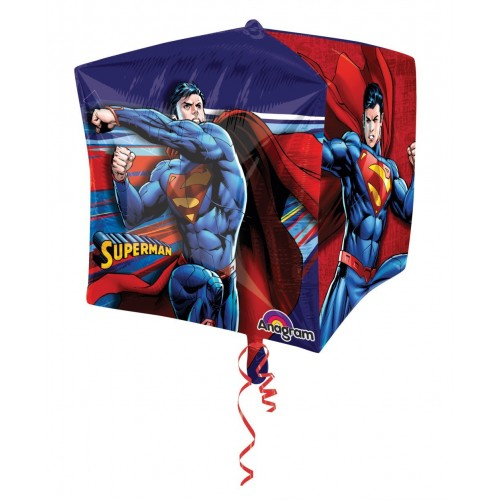Globo Superman - Cubo 3D 43cm Foil Poliamida - A2902001