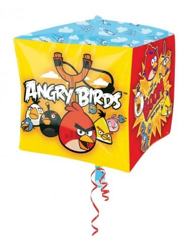 Globo Angry Birds - Cubo 3D 43cm Foil Poliamida - A2846201