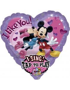 Globo Mickey and Minnie Love con Musica Corazon 74cm Foil Poliamida 2345701