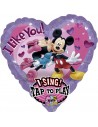 Globo Mickey and Minnie Love con Musica Corazon 74cm Foil Poliamida 2345701