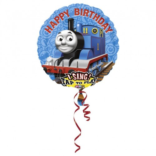 Globo Thomas Happy Birthday con Musica - Redondo 71cm Foil Poliamida - A2349401