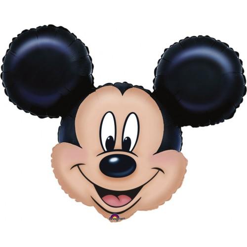 Globo Mickey Mouse Cabeza - Forma 53x69cm Foil Poliamida -A0776401-02