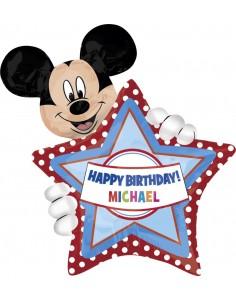 Globo Mickey Mouse Birthday Forma 76x60cm Foil Poliamida 2636401
