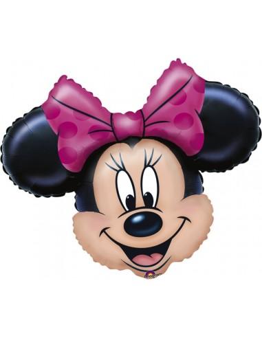 Globo Minnie Mouse Cabeza - Forma 58x28cm Foil Poliamida -A0776501-02