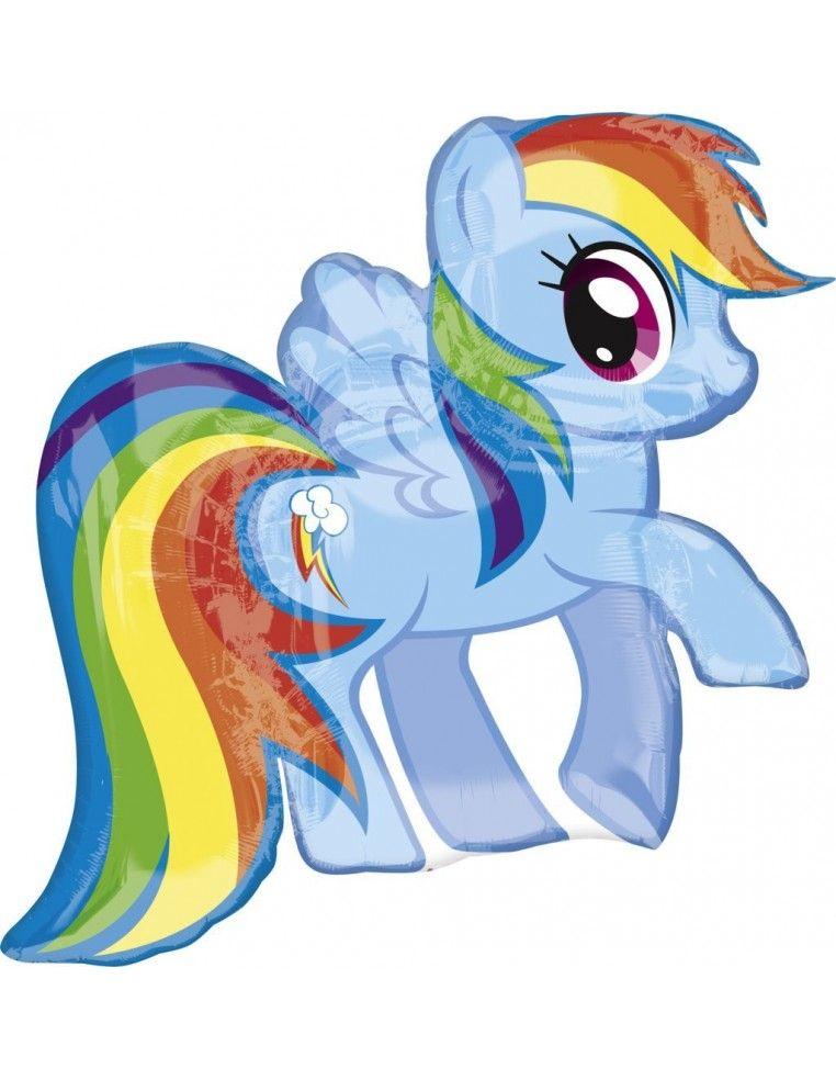Globo Mi Pequeño Pony Arcoiris - Forma 68x71cm Foil Poliamida -A2646701-02