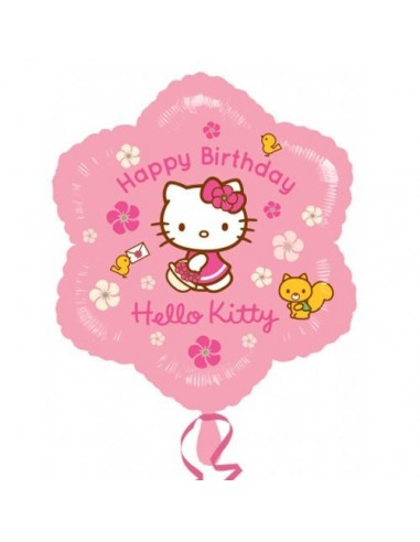 Globo Hello Kitty Happy Bday - Forma 45cm Foil Poliamida -A2550101