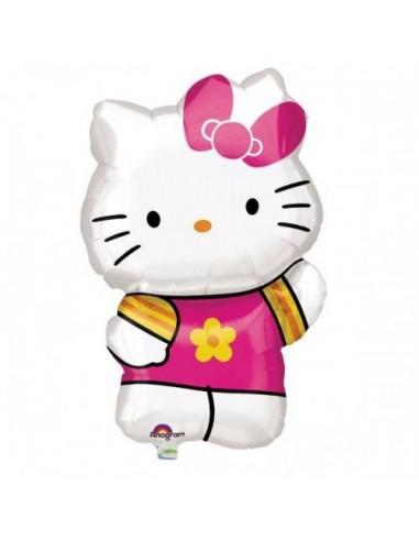 Globo Hello Kitty Summer Saluda - Forma 63x41cm Foil Poliamida -A2747602