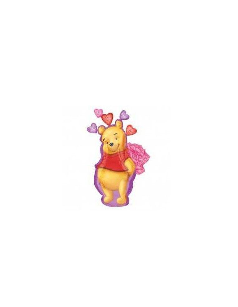 Globo Pooh Valentine - Forma 88cm Foil Poliamida -A1043902