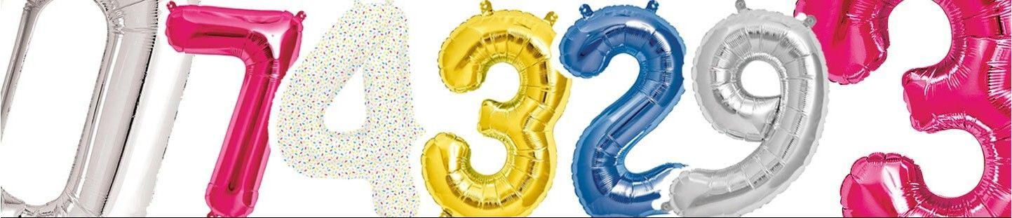 Globos Numeros 41cm para Decoración de Cumpleaños y Fiestas