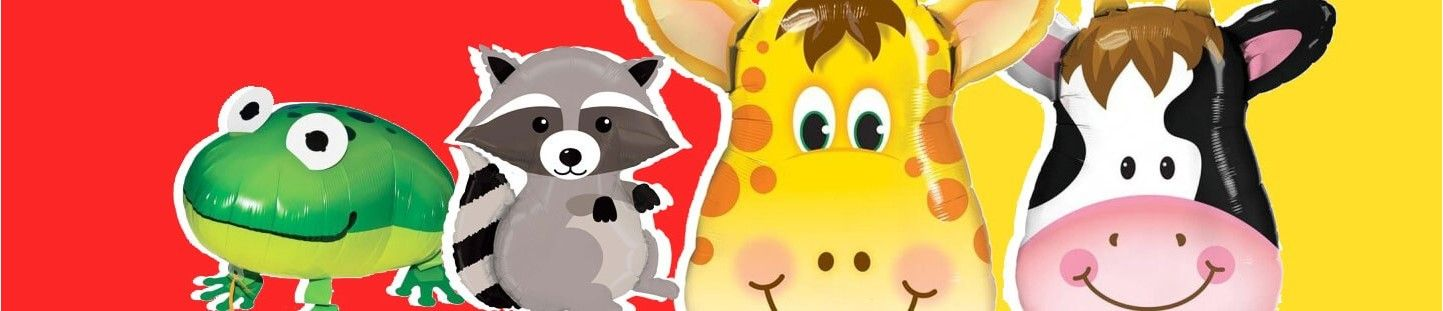 Globos de Animales. Ideas para Decoración de Fiestas Temática Animales