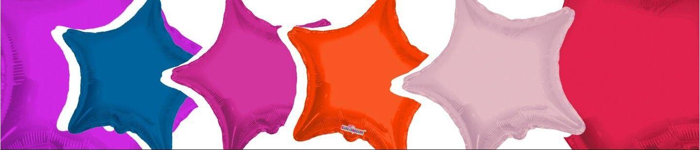 Globos de Helio Estrellas 45cm para Decoración de Cumpleaños y Fiestas