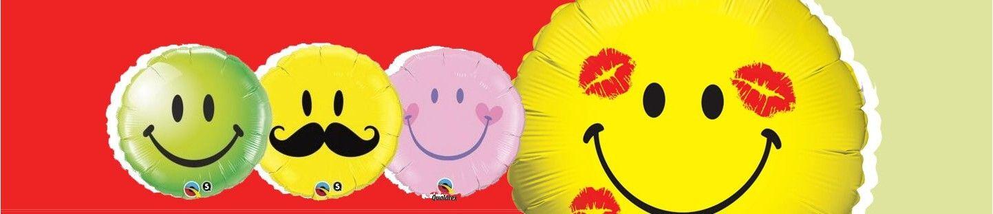 Globos de Smileys para Decoracion de Fiestas y Cumpleaños