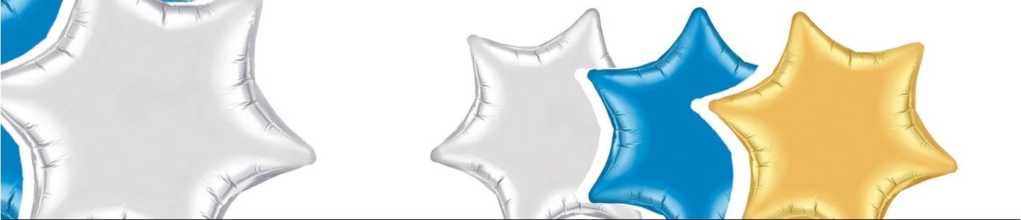 Globos Estrella 6 Puntas Qualatex para Decoracion de Cumpleaños