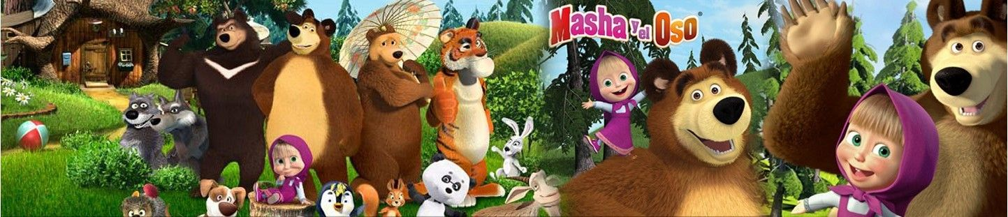 Globos Masha y el Oso. Decoracion de Cumpleaños Masha y el Oso
