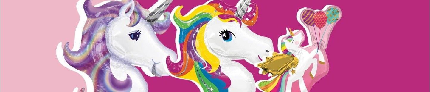 Globos de Unicornios para Decoracion de Fiestas y Cumpleaños Temáticos