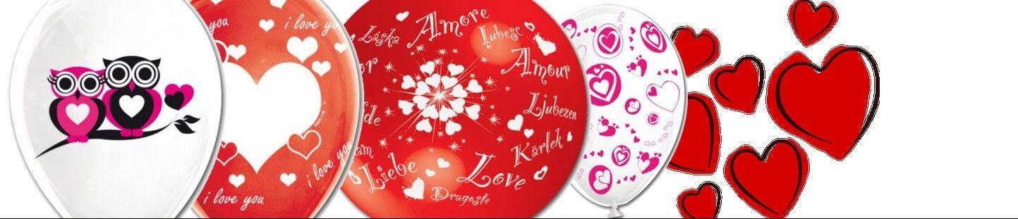 Globos de Látex para San Valentin y Enamorados