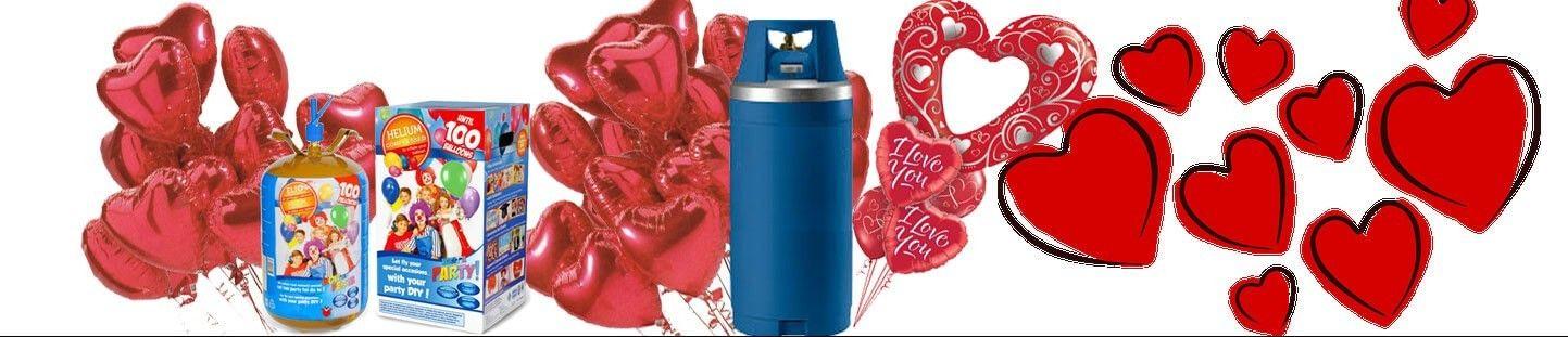 Helio y Globos para San Valentin