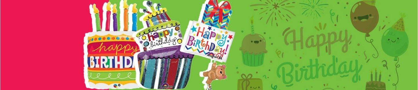 Globos de Helio para Cumpleaños con Formas Especiales