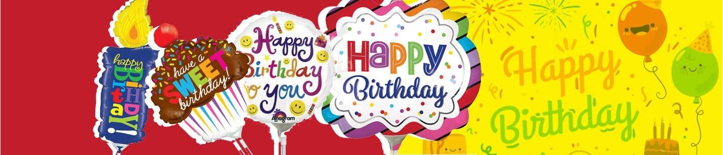 Globos de Cumpleaños Mini con Varillas al Mejor Precio