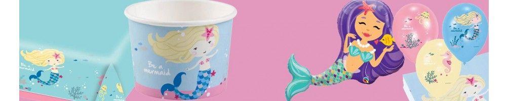 Ideas para Decoración de Fiestas y Cumpleaños de Be a Mermaid