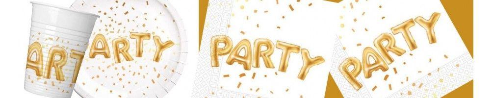 Ideas para Decoración de Fiestas y Cumpleaños de Gold