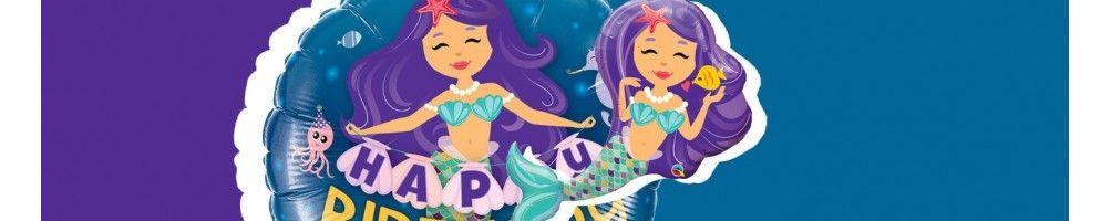 Globos para Cumpleaños de Sirenas. Decoracion de Fiesta de Sirenas