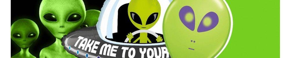 Globos para Cumpleaños Aliens. Decoracion y Photocall de Fiesta Aliens