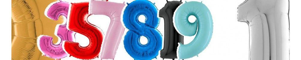 Globos de Helio Numeros 66cm para Decoración de Cumpleaños y Fiestas