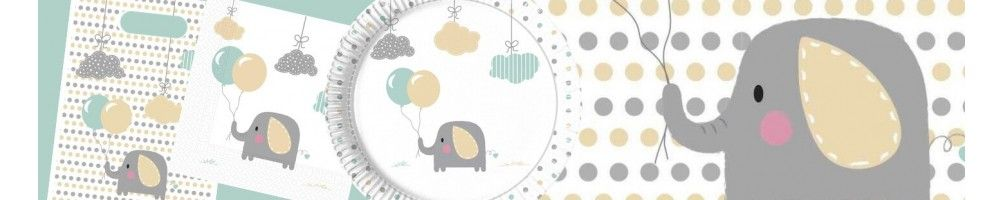 Ideas para Decoración de Fiestas y Cumpleaños de Elephant Baby