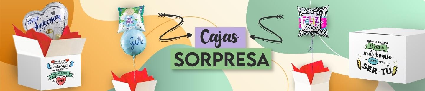 Caja Sorpresa con Globos. El Regalo Más Original. Díselo con Globos