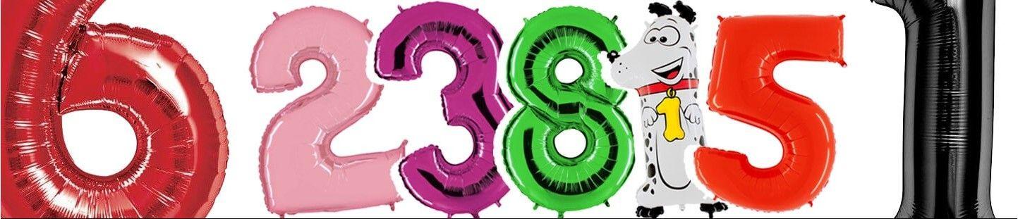 Globos de Helio Numeros 100cm para Decoración de Cumpleaños y Fiestas