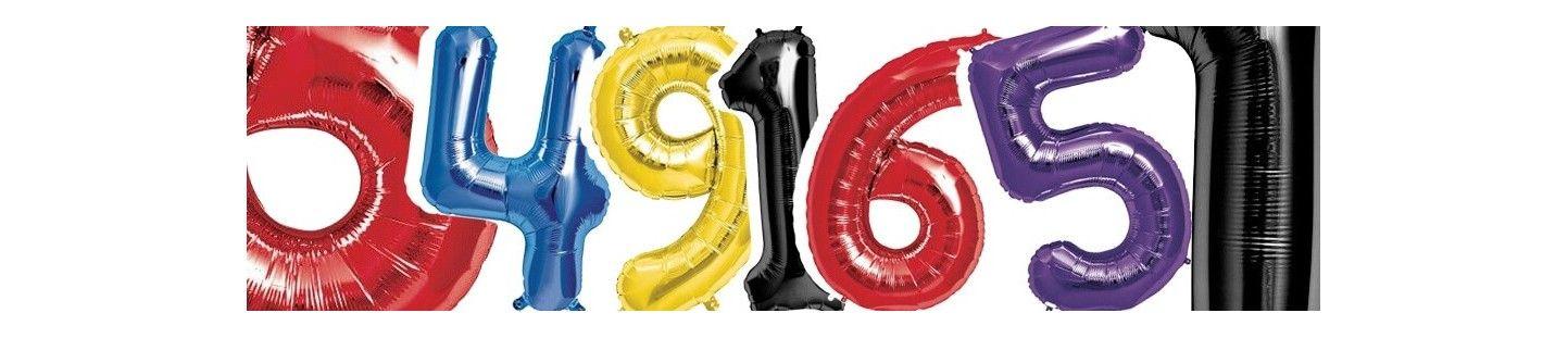Globos de Helio Numeros 86cm para Decoración de Cumpleaños y Fiestas