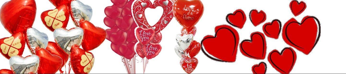 Ramos de Globos para San Valentin y Enamorados