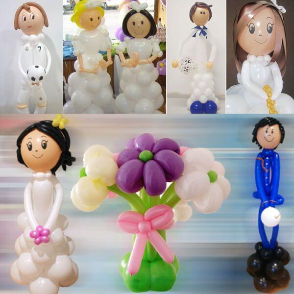 Figuras con globos para comunión