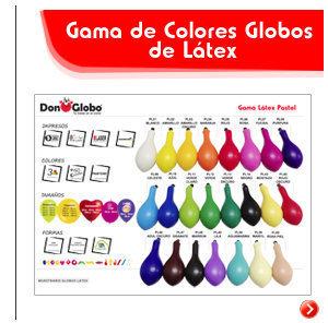 Tamaños, colores y personalización de globos de látex