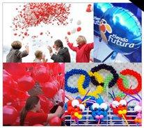 Realizamos toda clase de eventos con globos, desde repartos, sueltas, caidas de globos, asi como globos publicitarios