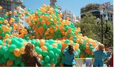 Caidas y sueltas de globos impresinates que encataran