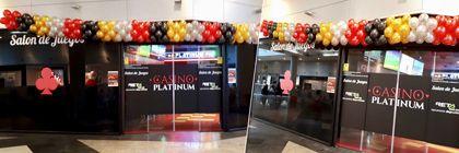 Guirnalda de globos para Casino Platinum