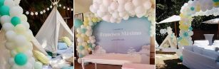 Decoración con globos Bautizo Francisco
